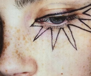 girl, makeup, and star image