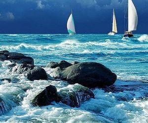 ocean, sea, and boat image