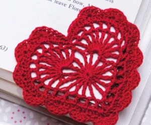 bookmark, crochet, and heart image