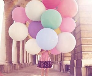 balloons, color, and happy image