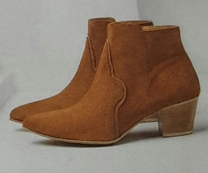 ankle boots, suede, and brown image