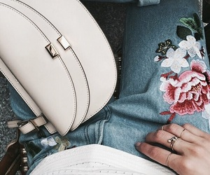clothe, embroidery, and flowers image