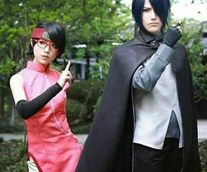 cosplay, sarada, and naruto image