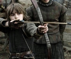 game of thrones, jon snow, and bran stark image