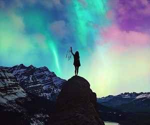 dream catcher, lights, and northern lights image