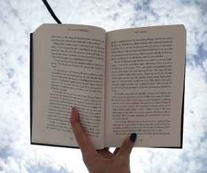 blue, book, and sky image