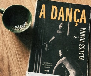book, coffee, and dance image