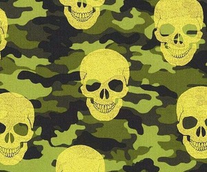 camo, camouflage, and skull art image
