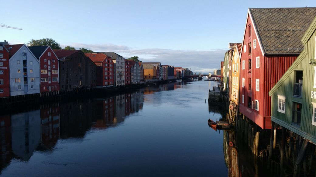 norway, river, and trondheim image