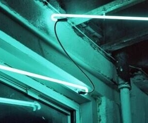 light, neon, and turquoise image