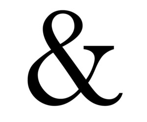 &, white, and ampersands image