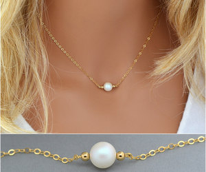 etsy, bridesmaidgift, and pearl jewelry image