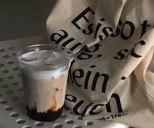 beige, iced coffee, and tan image