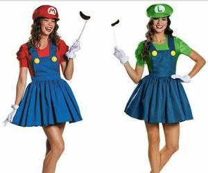 costume, luigi, and mario bros image
