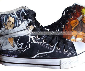 anime shoes, naruto shoes, and custom naruto image