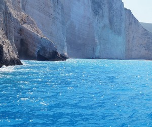 beach, boat, and Greece image