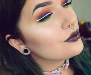 arcoiris, makeup, and maquillaje image