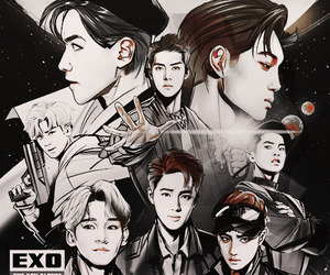 exo, kpop, and thewar image