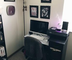bedroom, Computer Desk, and decoration image