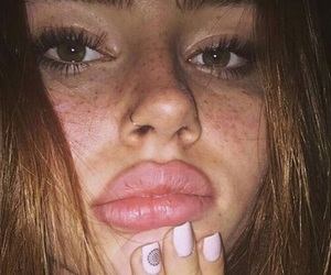 girl, face, and lips image