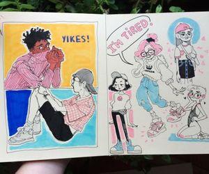 sketchbook, art, and journal image