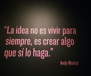 andy warhol, frases, and museo image