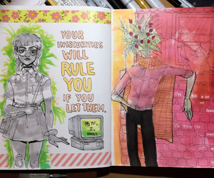 art, art journal, and copic markers image