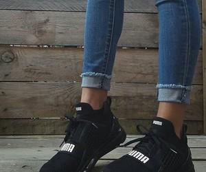 puma, feet, and shoes image