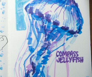 art, ink, and jellyfish image