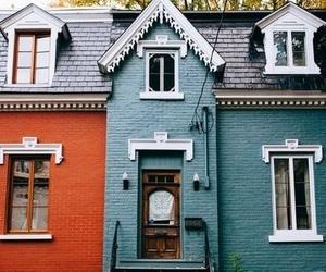 blue, orange, and house image