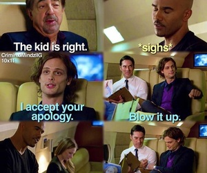 criminal minds, morgan, and Reid image