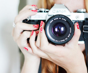 camera, nails, and canon image