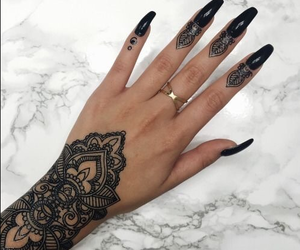 henna, nails, and tattoo image