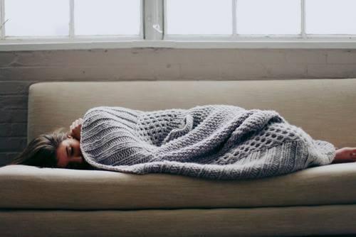 girl, sleep, and blanket image