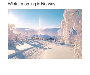 winter, norway, and snow image