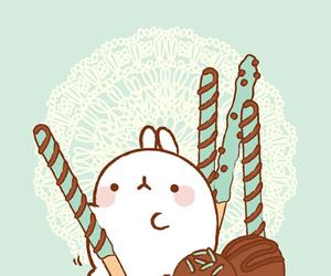 kawaii, rabbit, and molang image