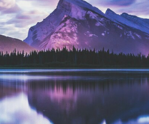 wallpaper, purple, and mountains image