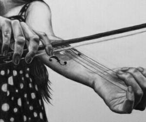 music, violin, and art image