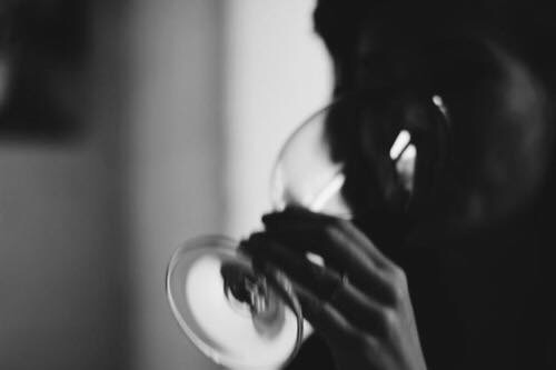 black and white and drink image