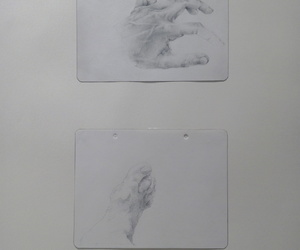 art, drawings, and hands image