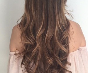 brunette, coloured hair, and hair image