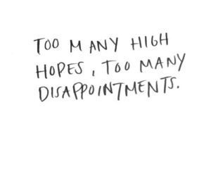 quotes, hope, and disappointment image