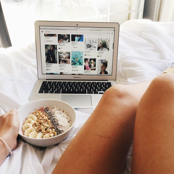 cozy, laptop, and white image