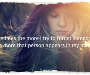 forget, girl, and quotes image