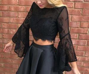 evening dress, fashion, and short prom dresses image