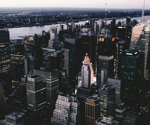 city, new york city, and the big apple image
