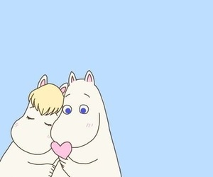 aesthetic, the moomins, and love image