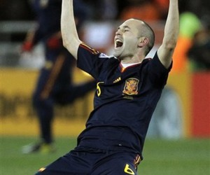 spain, world cup, and andres iniesta image