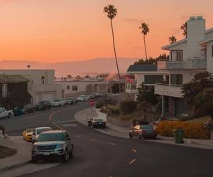 sunset and california image