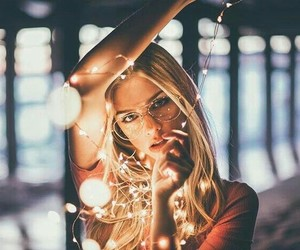fashion, hair, and lights image